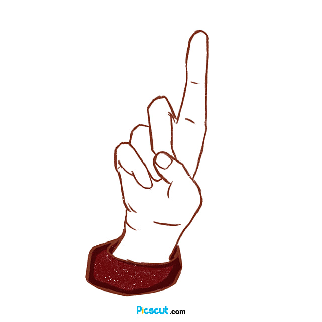 Pointing Hand Clipart Red Christmas Png