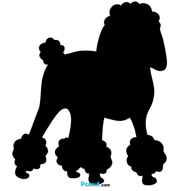 Poodle Clipart Pet Dog Black And White Png Image For Free Download Picscut