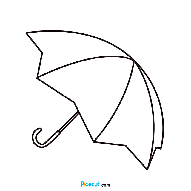 Umbrella Clipart Black And White Line Draft Png Image For Free Download Picscut