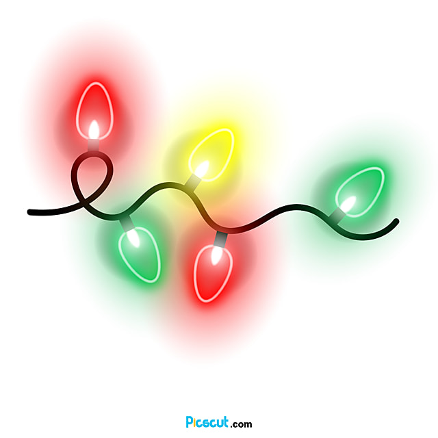Christmas Lights Clipart Light Effect Pointed Png