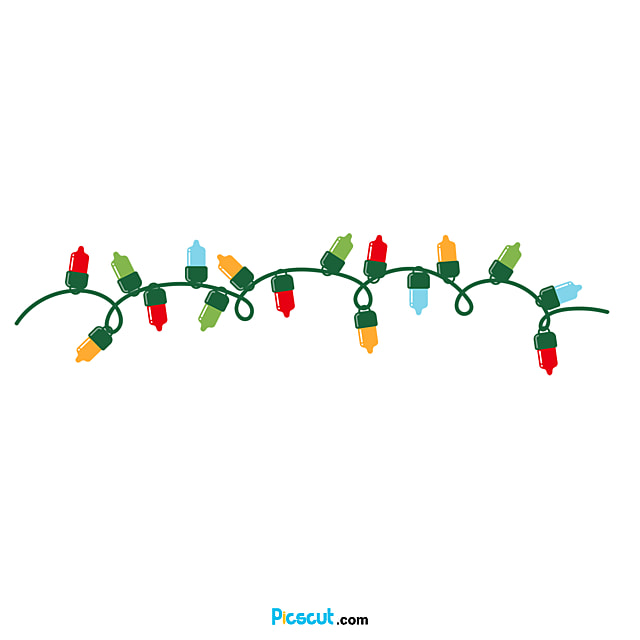 Christmas Lights Clipart Lovely Hand-drawn Style Bending Line Png