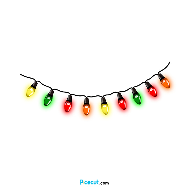Christmas Lights Clipart Pointed Light Effect Png