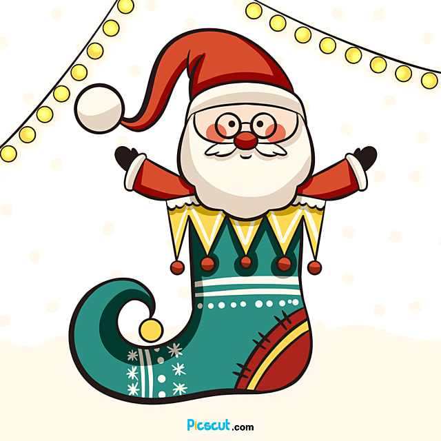 Santa Claus Clipart Christmas Hat Lovely Snow Png