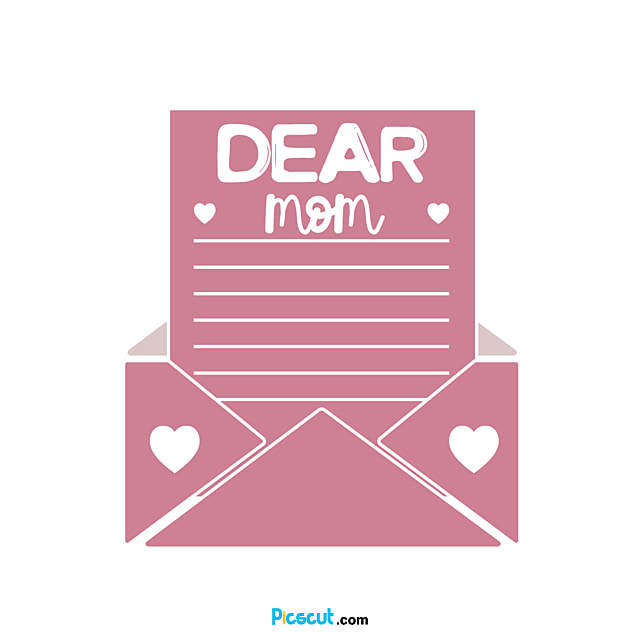 A Letter Written To Mother Art Font Svg Png