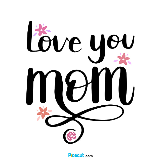Cute Flower Mothers Day Svg Body Art Word Png