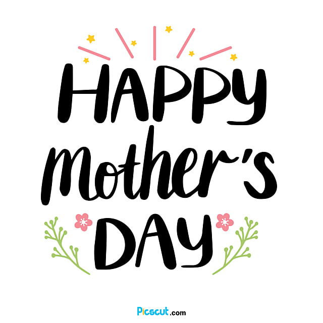 Happy Mother-s Day Svg Flower Art Word Png