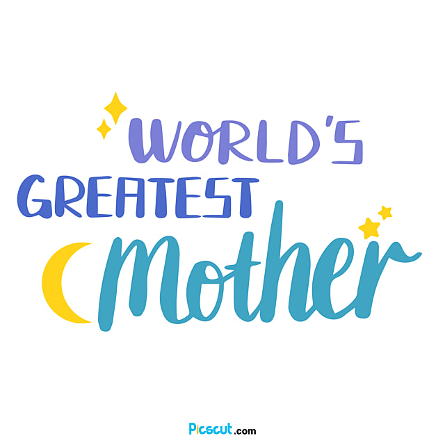 Mothers Day Simple Svg Flower Art Word Png