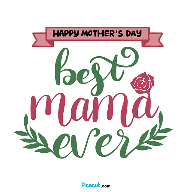 Pink Warm Mothers Day Svg Floral Font Package Png