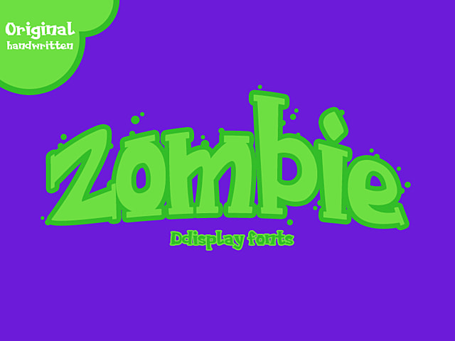 Cartoon-Zombiefont Png